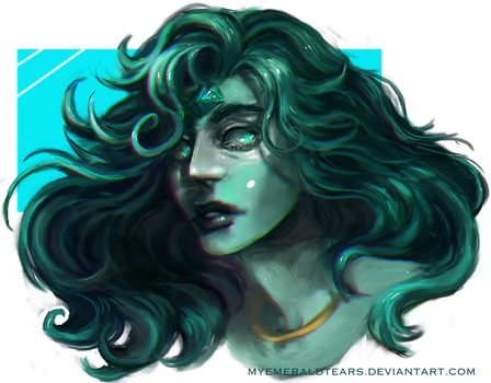 Commission: Amazonite by MyEmeraldTears