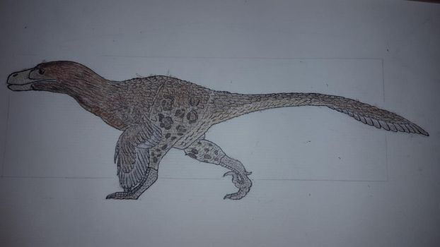 Utahraptor (more or less completed) by Braindroppings1