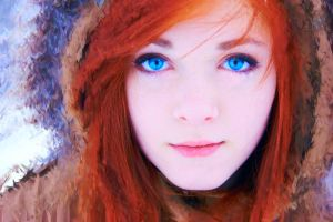 Red head woman by Vladisakov
