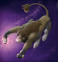 gambit lion chucking cards by hibbary