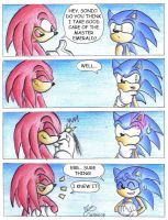 Don't contradict Knuckles by Ian-the-Hedgehog