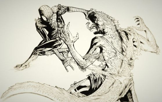 Spidey vs. Lizard by MonoFlax
