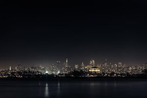 SF night skyline by LeMex