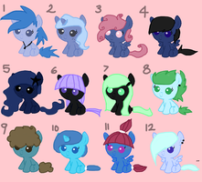 MLP FIM Adoptable 2 - 9, 10, and 11 Open! by BeautifulWarri0r