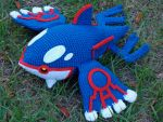 Kyogre Plushie by HidingInTheClouds