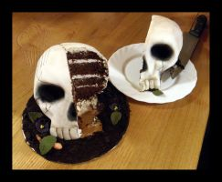 Inside of My Skull Cake by CakeUpStudio