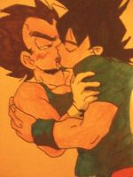 Yaoi Goku and Vegeta by maytheawesomex99