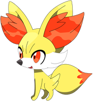 My second vector Fennekin. by Flutterflyraptor