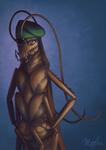 Portrait of a Roach in a Beret by DimeSpin