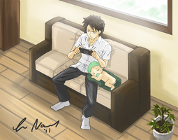 Oga and Baby Beel by SamhainStar
