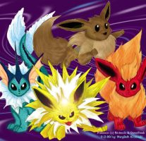 the evee's from pokemon by supercrazzy