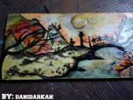 Chinese Inspired Painting by danidarkan
