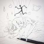 Inktober #7: Marionette Syndrome by Aka-Shiro