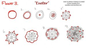How to draw Paisley Flower 03 Exeter by Quaddles-Roost