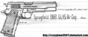 Springfield 1911A1 GI.45 HiCap by CrazyDave55811