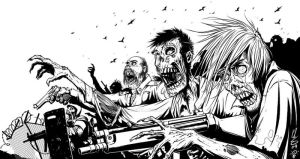 Zombies with Guns by Inkthinker
