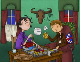 Sherlock and John play Cluedo by Katy133