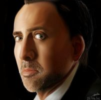 [Drawing]Nicolas Cage by Graph3Dungo