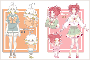 [ ADOPTS ]  Gakusei Flowers CLOSED by Kialun