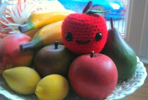 Amigurumi Apple by CraftyGeeks