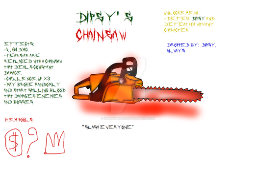 TBOI Item idea: Dipsy's Chainsaw by ShadowMarco