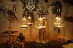 Steampunk Lamp by steamworker