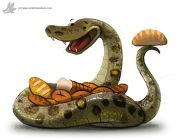 Day 751# - MY ANACONDA DON'T by Cryptid-Creations