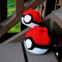 Pokeball Dice Bags by patterns4paws