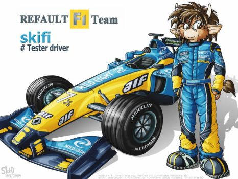 F1 Tester Driver by skifi