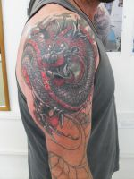 Oriental Dragon cover up by facepolution