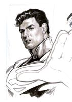 Superman sketch by felipemassafera