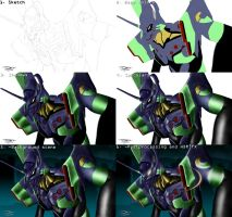 Evangelion - EVA01 Composition by Unreal-Forever