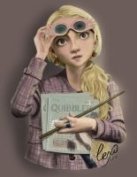Luna Lovegood - full colour by CassyPhoenix