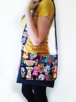 Day of the Dead Messenger Bag by ErikaC