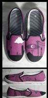 Welcome to Night Vale Hand Painted Shoes by Konchiroichi