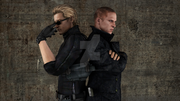 Albert Wesker and Jake Muller: Father and Son by NovaCrystallisXIII
