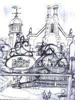 Haunted Mansion Sketch by Neosun7