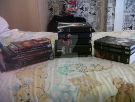My Twilight Books, pilled up. ^ ^ by Horsey-Luver450