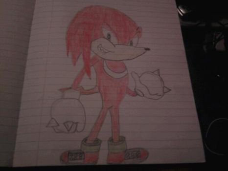 Knuckles from Sonic the Hedgehog by SquirrelJoeArmstrong