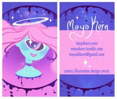 cosmic pastel card by mayakern
