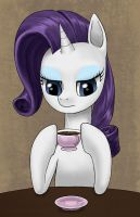 Rarity having a cup of coffee by dannylim86