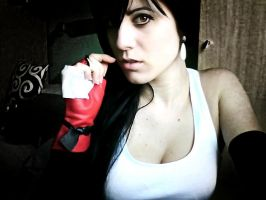 Testing makeup Tifa dissidia by RinoaHeartilly17