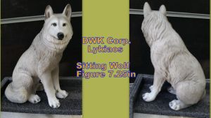 DWK Corporation Lykiaos Sitting Wolf Figure 7in by Vesperwolfy87
