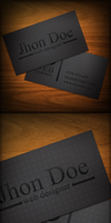 Black Business Card by graphcoder