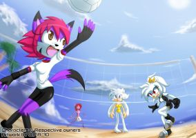 Volleyball girls by howlzapper