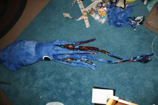Giant Space Squid Plush (Finished) by jadestonethedragon