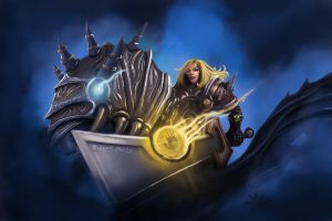 Paladin with ashbringer on Invicible - Warcraft by maxfxgr