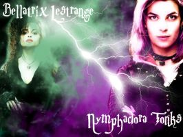 Tonks VS. Bellatrix by XxNymphadoraTonksxX