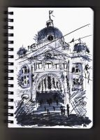 Victoria State Library Sketch by HamysArt