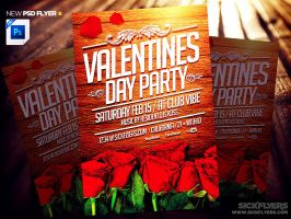 Valentines Day Flyer Template PSD by Industrykidz